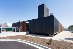 connected shipping containers form royal wolf HQ by room 11