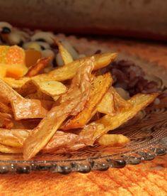 Casca de batata frita com especiarias