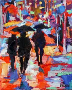 "Saatchi Art Artist Elizabeth Elkin; Painting, ""It's just Rain, SOLD"" #art"