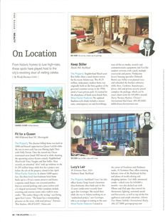 On Location article in this month's issue of The Atlantan magazine