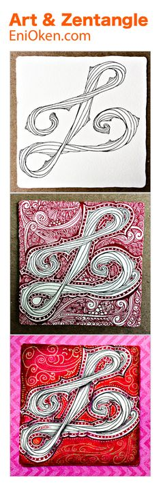 It's so much fun to make twisted tangle ropes with Zentangle®️ • enioken.com