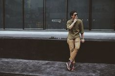 #sunglass #persol_649 #shirt #issufu_by_bronson #pant #wrangler #shoes #redwing3141 #photo_by @mo0zuk3