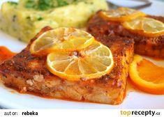 Rybí filé v citrusové marinádě recept - TopRecepty.cz Mashed Potatoes, Cauliflower, French Toast, Treats, Fruit, Vegetables, Breakfast, Ethnic Recipes, Fitness