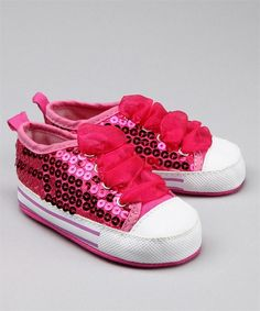Hot Pink Sequin Lace Sneaker   Vitamins Baby Clothes   New Baby Clothes   Girls Baby Clothes   Infant Clothes   Baby Clothing   New Born Baby Clothing   Designer Baby Clothes   Cute Baby Clothing shoes-shoes-shoes
