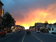 Sunset in Telluride on 6/14/2013. Amazing to say the least. Property of the #Telluride Tourism Board.