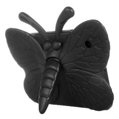 For+iPad+4/3/2+Black+EVA+Butterfly+Shape+Portable+Bumper+Protective+Case+with+Holder