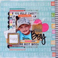 #papercrafting #scrapbook #layout   Love This Boy  **My Creative Scrapbook** - Scrapbook.com