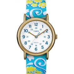 34393c23b Buy Timex Women's Weekender Watch, White Swirl Nylon Slip-Thru Strap