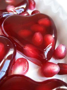Jiggly Pomegranate Hearts