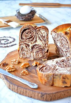 Croatian Swirl Bread Poviticia - A gorgeous vanilla bean bread filled with a delicious cocoa walnut paste. Such a teaser! British Baking Show Recipes, British Bake Off Recipes, Great British Bake Off, Baking Recipes, Bread Recipes, British Desserts, Baking Ideas, Chicken Recipes, Baked Goods