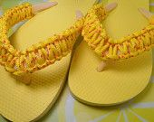 TREASURY GIVEAWAY Flip Flops Yellow and Orange Paracord