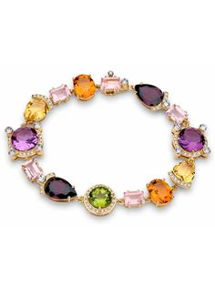 Brumani 18k Yellow Gold Mixed Stone Diamond Bracelet at London Jewelers!