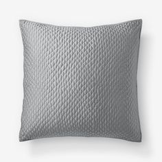 "Lexington Quilt + Shams | west elm - ""feather gray"" Euro sham - $34"