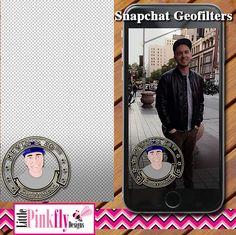 GF-541 Gold & Black Cartoon Birthday Logo Snapchat Geofilter