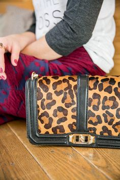 Boss Mom | Tee and Skirt Look | Leopard Bag | Uptown With Elly Brown