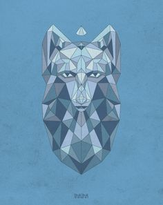 Crystal wolf by Ooli