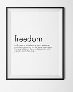 Link in bio! http://etsy.me/2lm1doG #Etsy #Download #WallArt #Decor #Printable #Quote #Inspirational #Motivational #Cheap #EtsyFinds #EtsyForAll #Stampe #Prints #Decor #EtsyHunter #etsyseller #art #black #instalove #instalike #Freedom #Dictionary #Definition #HomeDecor #Poster Wonderful Wall Art Designs to Brighten your Life!
