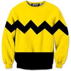Handcrafted Charlie Brown sweatshirt
