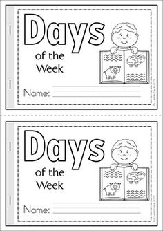 Days of the Week Cut Paste reader {FREE}