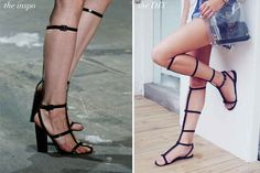 Alexander Wang-Inspired Gladiator Shoes | 10 Ways To Hack Your Heels