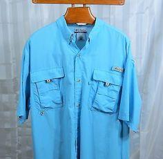 COLUMBIA PFG Omni-Shade MENS s/s button-down shirt XLT Big and Tall Fishing