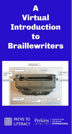 This lesson is designed to provide a virtual introduction to braillewriters through remote instruction. Home Schooling, Step By Step Instructions, Literacy, Student, Activities, Remote, Learning, Design, Ideas