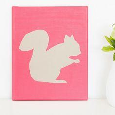 Squirrel Silhouette by Ben Pinder