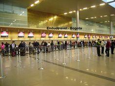 Aeropuerto Internacional EL DORADO zona remodelada y que es puente para todos los destinos Nacionales e Internacionales desde Bogota