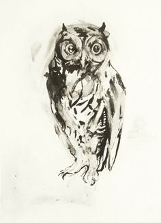 'Owl' by Nicola Hicks, 2006 (etching)