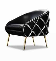 The Dali chair Nathan Anthony has contrasting colours sewn on the back giving a 3D effect