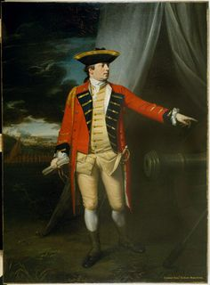 """""""Major-General Robert Monckton at the Taking of Martinique, 1762"""" by Benjamin West (1763) at the National Army Museum, London - From the curators' comments: """"Monckton's military career was largely centred in North America, most significantly as General Wolfe's second-in-command at Quebec in 1759. From 1761-1763, he was Governor of New York. It was thus no coincidence that he chose the young American artist, Benjamin West, to record his grandest moment for posterity."""""""