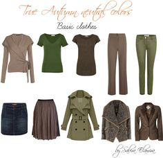 """True autumn neutral colors"" by sabira-amira on Polyvore"