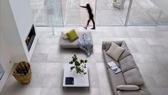 Porcelain stoneware flooring with concrete effect GRAFFITI by Ceramiche Refin Living Room Modern, Living Room Designs, Living Area, Olympia Tile, Graffiti, Stone Flooring, Flooring Ideas, Living Room Flooring, Tile Design