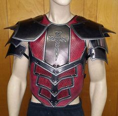 Leather Armor Dragon Scale chest back and by SharpMountainLeather