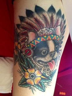 boston terrier tatoos | Photo] Boriss The Boston Terrier Gets Immortalized With A Tattoo ...