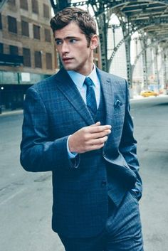Sean O'Pry Models Formal Styles for Next Fall 2015 Campaign Sean O'pry, Sharp Dressed Man, Well Dressed Men, Tailored Suits, Suit And Tie, Gentleman Style, Gentleman Fashion, Stylish Men, Mens Suits