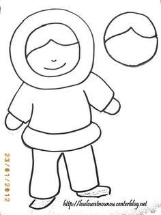 Polar bear template artic vbs pinterest bear for Thomas snowsuit coloring page
