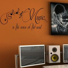 (L)LARGE GIANT QUOTE MUSIC VOICE SOUL BEDROOM WALL MURAL GIANT ART STICKER VINYL DECAL (LARGE) 550mmH 1200mmW QUOTES http://www.amazon.co.uk/dp/B007L3U45A/ref=cm_sw_r_pi_dp_Ae5sub0M519M0