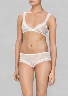 & OTHER STORIES A soft bra made from mesh, featuring a semi-transparent look.