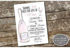 Wine Themed 39th Birthday Invitations - Digital Download by invitedbymj on Etsy https://www.etsy.com/listing/503123663/wine-themed-39th-birthday-invitations