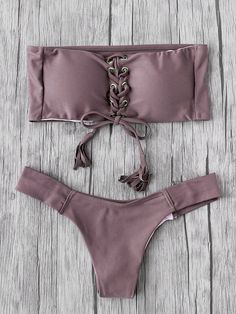 Shop Eyelet Lace Up Tassel Bandeau Bikini Set online. SheIn offers Eyelet Lace Up Tassel Bandeau Bikini Set & more to fit your fashionable needs.