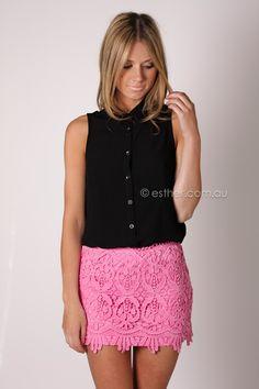bingle lace mini skirt - pink