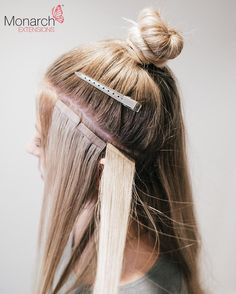 Monarch Extensions Top Knot Tape In Method - Diagonal Back Section
