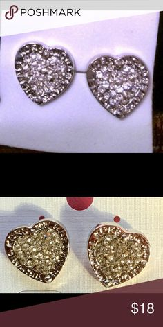Michael Kors earrings Perfect for Valentines Day! Heart shaped MK earrings! Brand new! Michael Kors Jewelry Earrings