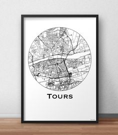 The poster Tours Minimalist Map is an original creation by Artmap Design©. ✓ printed on high quality paper ✓ Shipping in a cardboard envelope or a cardboard tube Tours France, Ville France, Deco, Creations, Minimalist, Map, The Originals, Prints, Poster