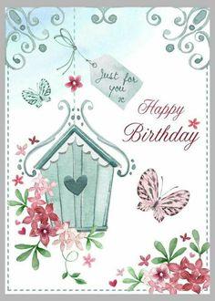 happy birthday mit fahrrad | postkarten online, happy birthday und versenden