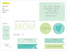 Mother's Day Free Printables!