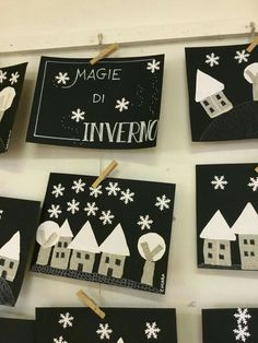 Winter magic - Valentina Gueci - - Magie d'inverno Magie + winter Winter Activities For Kids, Winter Crafts For Kids, Winter Kids, Winter Art, Christmas Activities, Winter Theme, Art For Kids, Christmas Crafts, Christmas Decorations