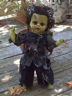 Art Doll FRANKENSTEIN Horror Goth Scary Creepy Altered Dead Doll Halloween Monster Prop on Etsy, $48.00