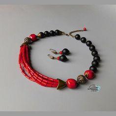 Коралл, шунгит. Сделано на заказ #аксессуары #хандмейд #авторскиеукрашения #авторскаяработа #натуральныекамни #кольеизнатуральныхкамней #бижутерия #украшенияизнатуральныхкамней #своимируками #handmade #handmadejewelry #jewelry #jewellery #aksesoris #elenalunyushkina